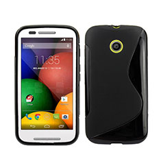 Silikon Hülle Handyhülle S-Line Schutzhülle für Motorola Moto E XT1021 Schwarz