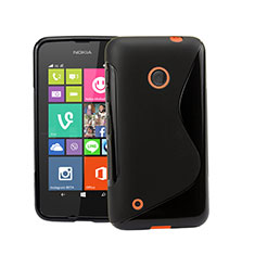 Silikon Hülle Handyhülle S-Line Schutzhülle für Nokia Lumia 530 Schwarz
