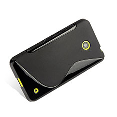 Silikon Hülle Handyhülle S-Line Schutzhülle für Nokia Lumia 635 Schwarz