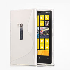 Silikon Hülle Handyhülle S-Line Schutzhülle für Nokia Lumia 920 Weiß