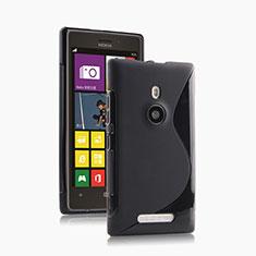 Silikon Hülle Handyhülle S-Line Schutzhülle für Nokia Lumia 925 Schwarz