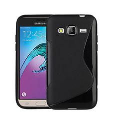 Silikon Hülle Handyhülle S-Line Schutzhülle für Samsung Galaxy Amp Prime J320P J320M Schwarz