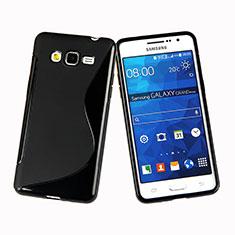 Silikon Hülle Handyhülle S-Line Schutzhülle für Samsung Galaxy Grand Prime 4G G531F Duos TV Schwarz