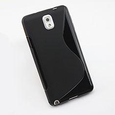 Silikon Hülle Handyhülle S-Line Schutzhülle für Samsung Galaxy Note 3 N9000 Schwarz