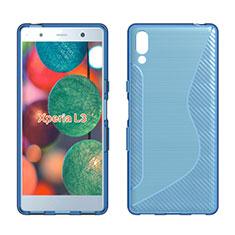 Silikon Hülle Handyhülle S-Line Schutzhülle Tasche Durchsichtig Transparent für Sony Xperia L3 Blau