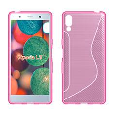 Silikon Hülle Handyhülle S-Line Schutzhülle Tasche Durchsichtig Transparent für Sony Xperia L3 Rosa