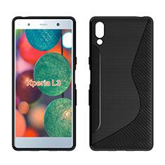 Silikon Hülle Handyhülle S-Line Schutzhülle Tasche Durchsichtig Transparent für Sony Xperia L3 Schwarz