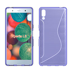 Silikon Hülle Handyhülle S-Line Schutzhülle Tasche Durchsichtig Transparent für Sony Xperia L3 Violett