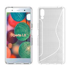Silikon Hülle Handyhülle S-Line Schutzhülle Tasche Durchsichtig Transparent für Sony Xperia L3 Weiß