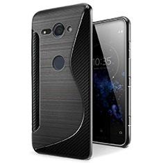 Silikon Hülle Handyhülle S-Line Schutzhülle Tasche Durchsichtig Transparent für Sony Xperia XZ2 Compact Schwarz
