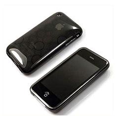 Silikon Hülle Handyhülle Transparent Schutzhülle Kreis für Apple iPhone 3G 3GS Grau