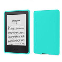 Silikon Hülle Handyhülle Ultra Dünn Flexible Schutzhülle 360 Grad Ganzkörper Tasche für Amazon Kindle 6 inch Cyan