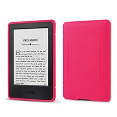 Silikon Hülle Handyhülle Ultra Dünn Flexible Schutzhülle 360 Grad Ganzkörper Tasche für Amazon Kindle 6 inch Pink
