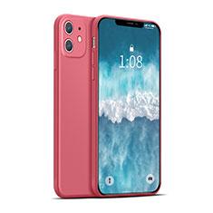 Silikon Hülle Handyhülle Ultra Dünn Flexible Schutzhülle 360 Grad Ganzkörper Tasche für Apple iPhone 12 Mini Rot