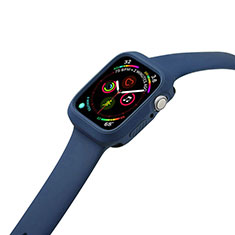 Silikon Hülle Handyhülle Ultra Dünn Flexible Schutzhülle 360 Grad Ganzkörper Tasche für Apple iWatch 5 40mm Blau