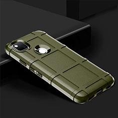 Silikon Hülle Handyhülle Ultra Dünn Flexible Schutzhülle 360 Grad Ganzkörper Tasche für Google Pixel 4a Grün