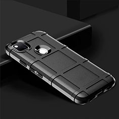 Silikon Hülle Handyhülle Ultra Dünn Flexible Schutzhülle 360 Grad Ganzkörper Tasche für Google Pixel 4a Schwarz