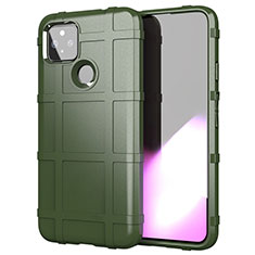 Silikon Hülle Handyhülle Ultra Dünn Flexible Schutzhülle 360 Grad Ganzkörper Tasche für Google Pixel 5 XL 5G Armee-Grün