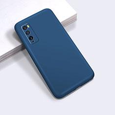 Silikon Hülle Handyhülle Ultra Dünn Flexible Schutzhülle 360 Grad Ganzkörper Tasche für Huawei Enjoy 20 Pro 5G Blau