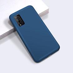 Silikon Hülle Handyhülle Ultra Dünn Flexible Schutzhülle 360 Grad Ganzkörper Tasche für Huawei Honor Play4T Pro Blau