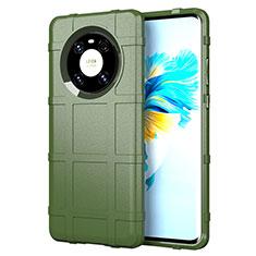 Silikon Hülle Handyhülle Ultra Dünn Flexible Schutzhülle 360 Grad Ganzkörper Tasche für Huawei Mate 40 Armee-Grün