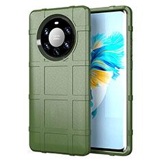 Silikon Hülle Handyhülle Ultra Dünn Flexible Schutzhülle 360 Grad Ganzkörper Tasche für Huawei Mate 40 Pro+ Plus Armee-Grün