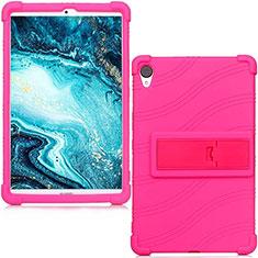 Silikon Hülle Handyhülle Ultra Dünn Flexible Schutzhülle 360 Grad Ganzkörper Tasche für Huawei MediaPad M6 8.4 Pink