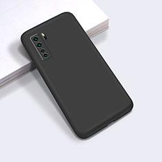 Silikon Hülle Handyhülle Ultra Dünn Flexible Schutzhülle 360 Grad Ganzkörper Tasche für Huawei Nova 7 SE 5G Schwarz