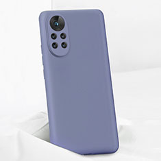 Silikon Hülle Handyhülle Ultra Dünn Flexible Schutzhülle 360 Grad Ganzkörper Tasche für Huawei Nova 8 Pro 5G Lavendel Grau
