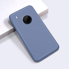 Silikon Hülle Handyhülle Ultra Dünn Flexible Schutzhülle 360 Grad Ganzkörper Tasche für Huawei Y9a Lavendel Grau