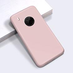 Silikon Hülle Handyhülle Ultra Dünn Flexible Schutzhülle 360 Grad Ganzkörper Tasche für Huawei Y9a Rosa