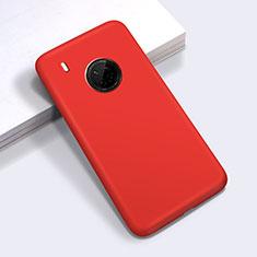 Silikon Hülle Handyhülle Ultra Dünn Flexible Schutzhülle 360 Grad Ganzkörper Tasche für Huawei Y9a Rot