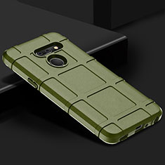 Silikon Hülle Handyhülle Ultra Dünn Flexible Schutzhülle 360 Grad Ganzkörper Tasche für LG G8 ThinQ Grün