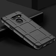 Silikon Hülle Handyhülle Ultra Dünn Flexible Schutzhülle 360 Grad Ganzkörper Tasche für LG G8 ThinQ Schwarz