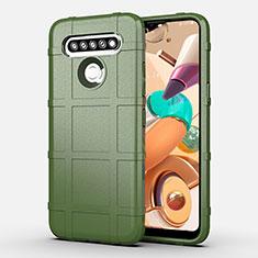 Silikon Hülle Handyhülle Ultra Dünn Flexible Schutzhülle 360 Grad Ganzkörper Tasche für LG K41S Grün