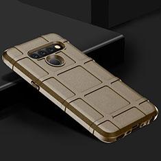 Silikon Hülle Handyhülle Ultra Dünn Flexible Schutzhülle 360 Grad Ganzkörper Tasche für LG V50 ThinQ 5G Braun