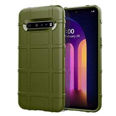 Silikon Hülle Handyhülle Ultra Dünn Flexible Schutzhülle 360 Grad Ganzkörper Tasche für LG V60 ThinQ 5G Grün