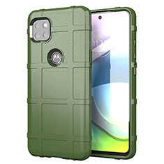 Silikon Hülle Handyhülle Ultra Dünn Flexible Schutzhülle 360 Grad Ganzkörper Tasche für Motorola Moto G 5G Armee-Grün