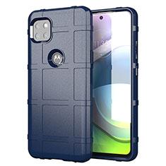 Silikon Hülle Handyhülle Ultra Dünn Flexible Schutzhülle 360 Grad Ganzkörper Tasche für Motorola Moto G 5G Blau