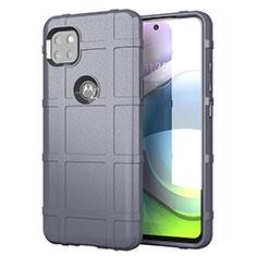 Silikon Hülle Handyhülle Ultra Dünn Flexible Schutzhülle 360 Grad Ganzkörper Tasche für Motorola Moto G 5G Grau