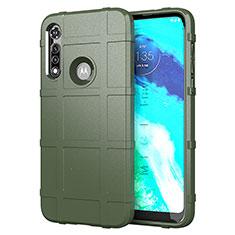 Silikon Hülle Handyhülle Ultra Dünn Flexible Schutzhülle 360 Grad Ganzkörper Tasche für Motorola Moto G Fast Grün