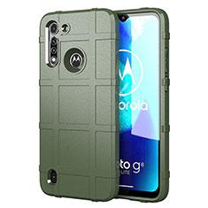 Silikon Hülle Handyhülle Ultra Dünn Flexible Schutzhülle 360 Grad Ganzkörper Tasche für Motorola Moto G8 Power Lite Grün