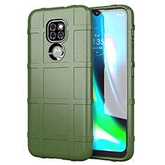 Silikon Hülle Handyhülle Ultra Dünn Flexible Schutzhülle 360 Grad Ganzkörper Tasche für Motorola Moto G9 Grün