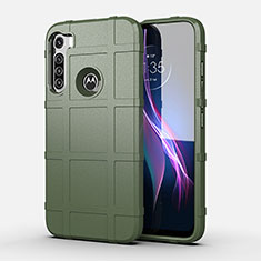 Silikon Hülle Handyhülle Ultra Dünn Flexible Schutzhülle 360 Grad Ganzkörper Tasche für Motorola Moto One Fusion Plus Grün