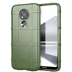 Silikon Hülle Handyhülle Ultra Dünn Flexible Schutzhülle 360 Grad Ganzkörper Tasche für Nokia 3.4 Armee-Grün