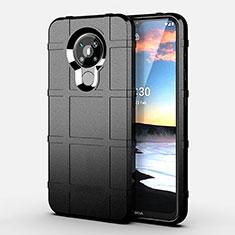 Silikon Hülle Handyhülle Ultra Dünn Flexible Schutzhülle 360 Grad Ganzkörper Tasche für Nokia 5.3 Schwarz