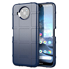 Silikon Hülle Handyhülle Ultra Dünn Flexible Schutzhülle 360 Grad Ganzkörper Tasche für Nokia 8.3 5G Blau