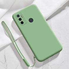 Silikon Hülle Handyhülle Ultra Dünn Flexible Schutzhülle 360 Grad Ganzkörper Tasche für Oppo A32 Grün