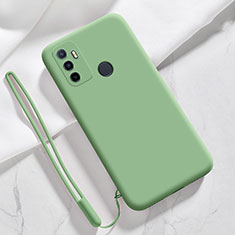 Silikon Hülle Handyhülle Ultra Dünn Flexible Schutzhülle 360 Grad Ganzkörper Tasche für Oppo A33 Grün