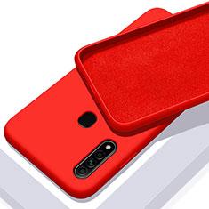 Silikon Hülle Handyhülle Ultra Dünn Flexible Schutzhülle 360 Grad Ganzkörper Tasche für Oppo A8 Rot